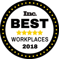Inc. Best Workplaces 2018 Badge