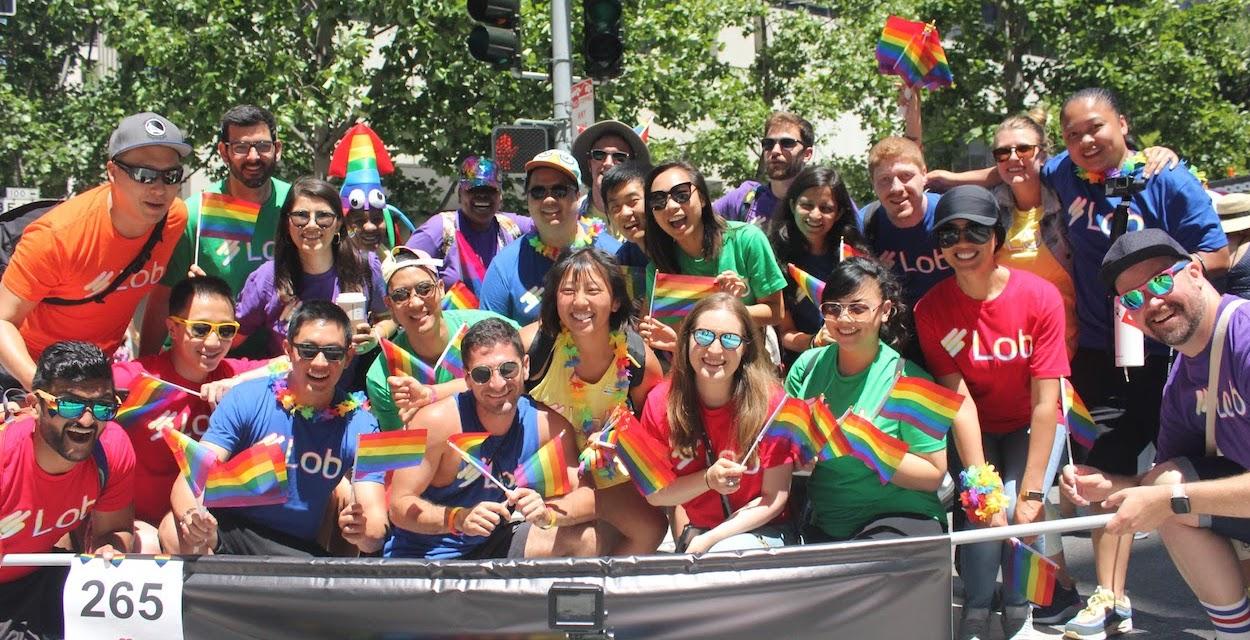 Lob Team at Pride Parade