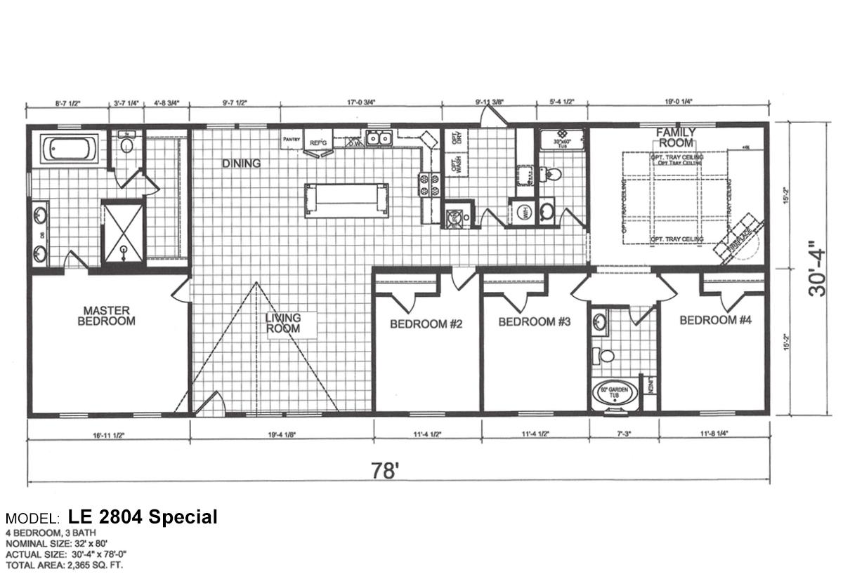 Ridgecrest Le 2804 Special Arkansas Home Center