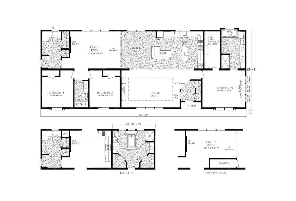 Centennial Homes / The Autumn Creek Modular - Layout