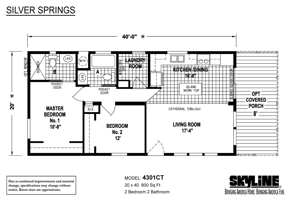 Skyline homes in ocala fl manufactured home manufacturer for Mobile home floor plans florida