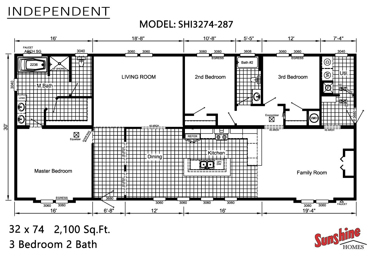 Manufactured homes home for Mobile home plans