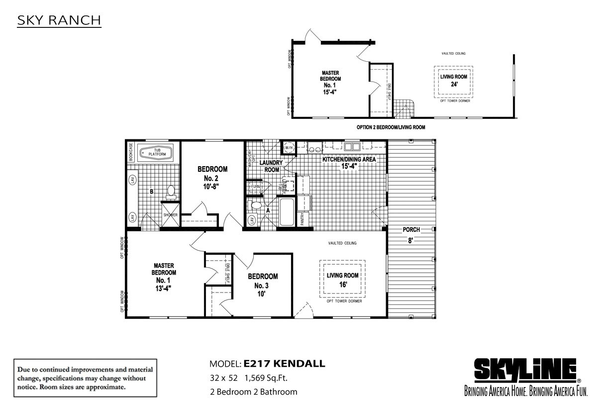 Sky ranch e217 kendall by skyline homes for Kendall homes floor plans