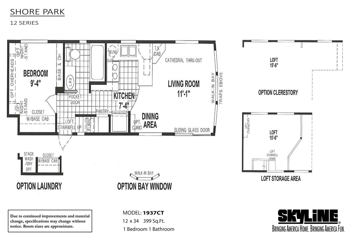 Shore park 1937ct by rv park model traders for Shore house plans