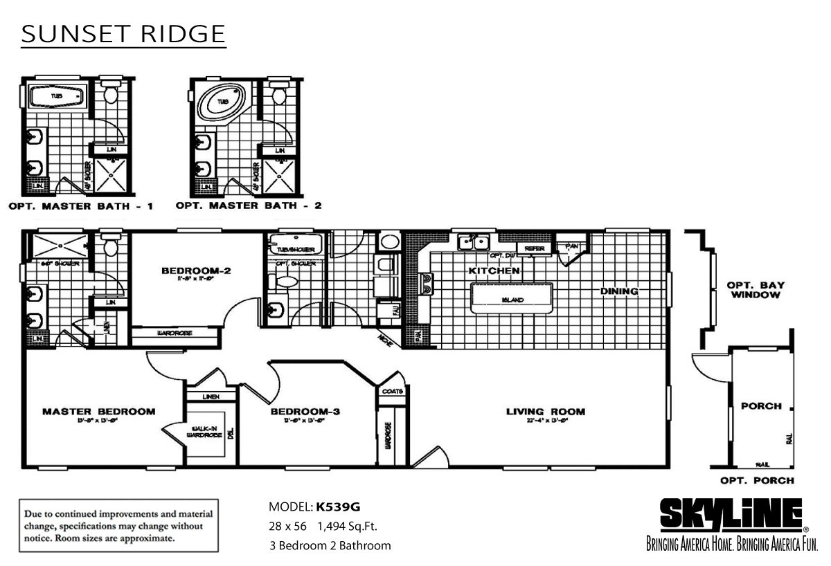Sunset ridge k539g by ideal manufactured homes for Sunset house plans