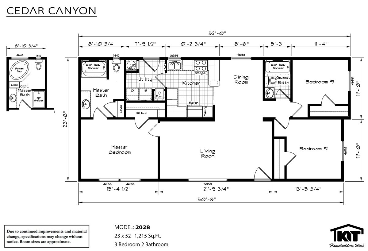 Cedar canyon 2028 by rocky mountain homes inc for Kit home floor plans