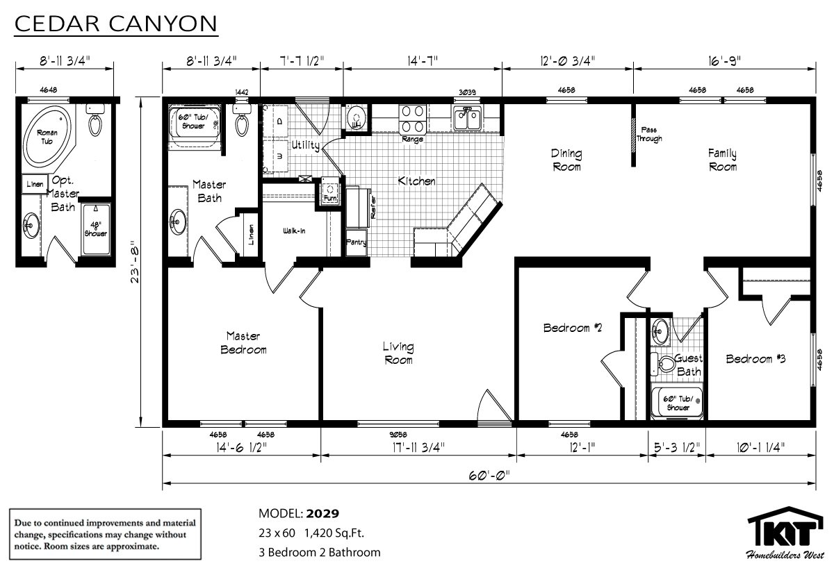 Stout homes inc lewiston id for Cedar home floor plans