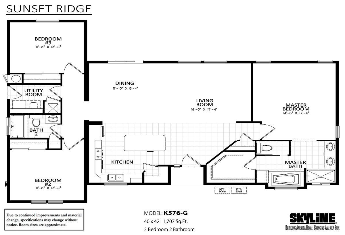 Sunset Ridge K576G Layout