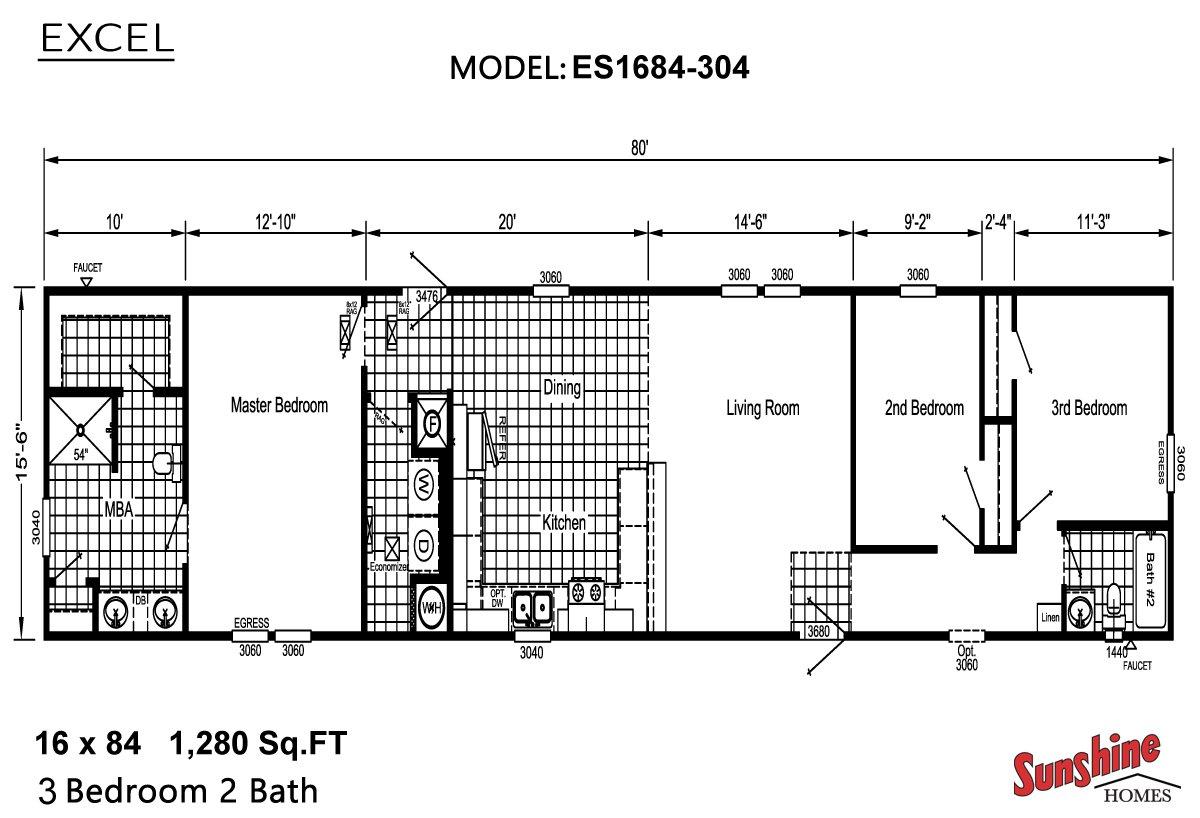 Excel ES1684-304 Layout