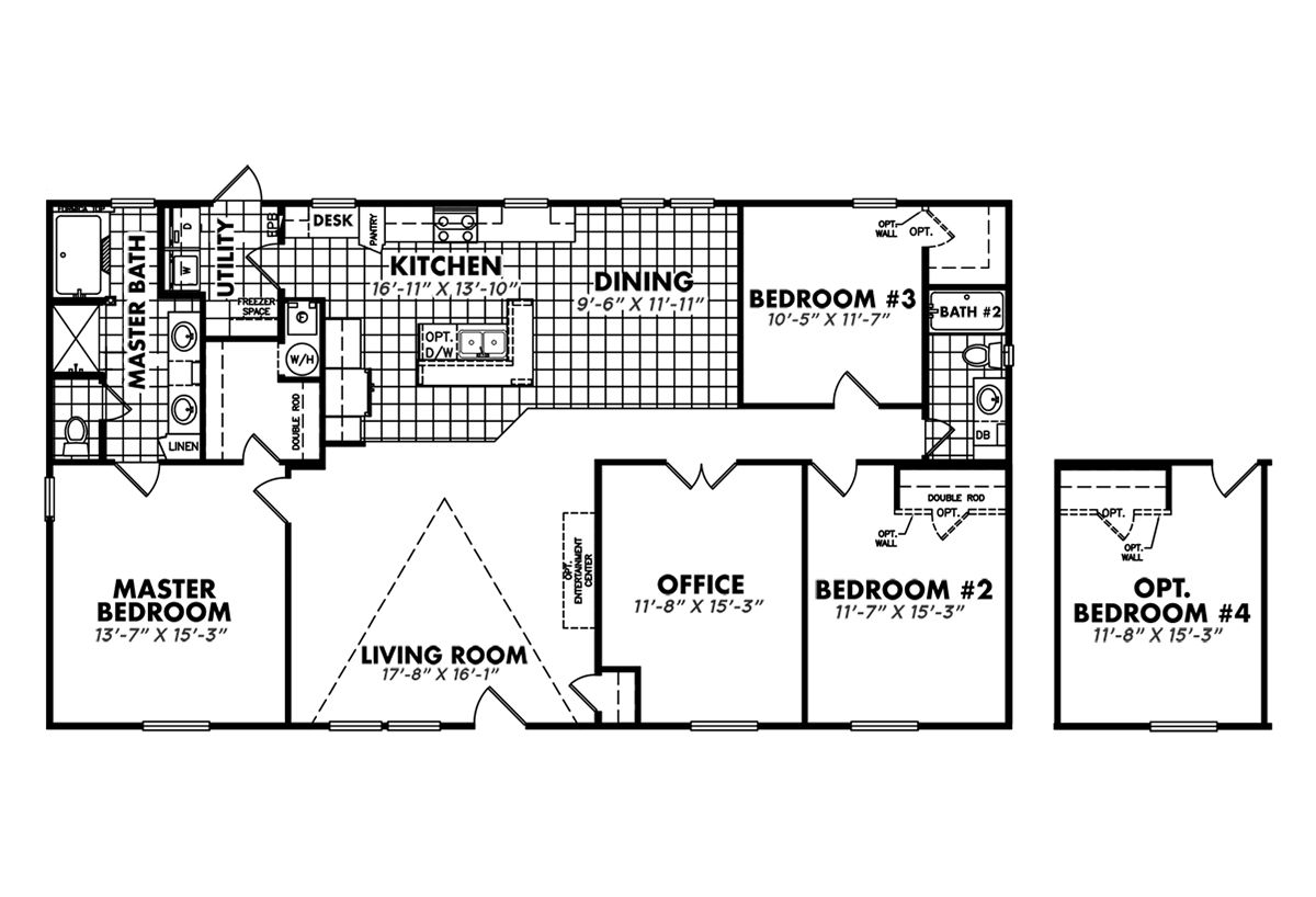 Heritage modular home floor plans for Mobile home plans