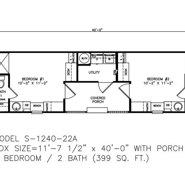 Tiny 1240 22a Texas Built Mobile Homes