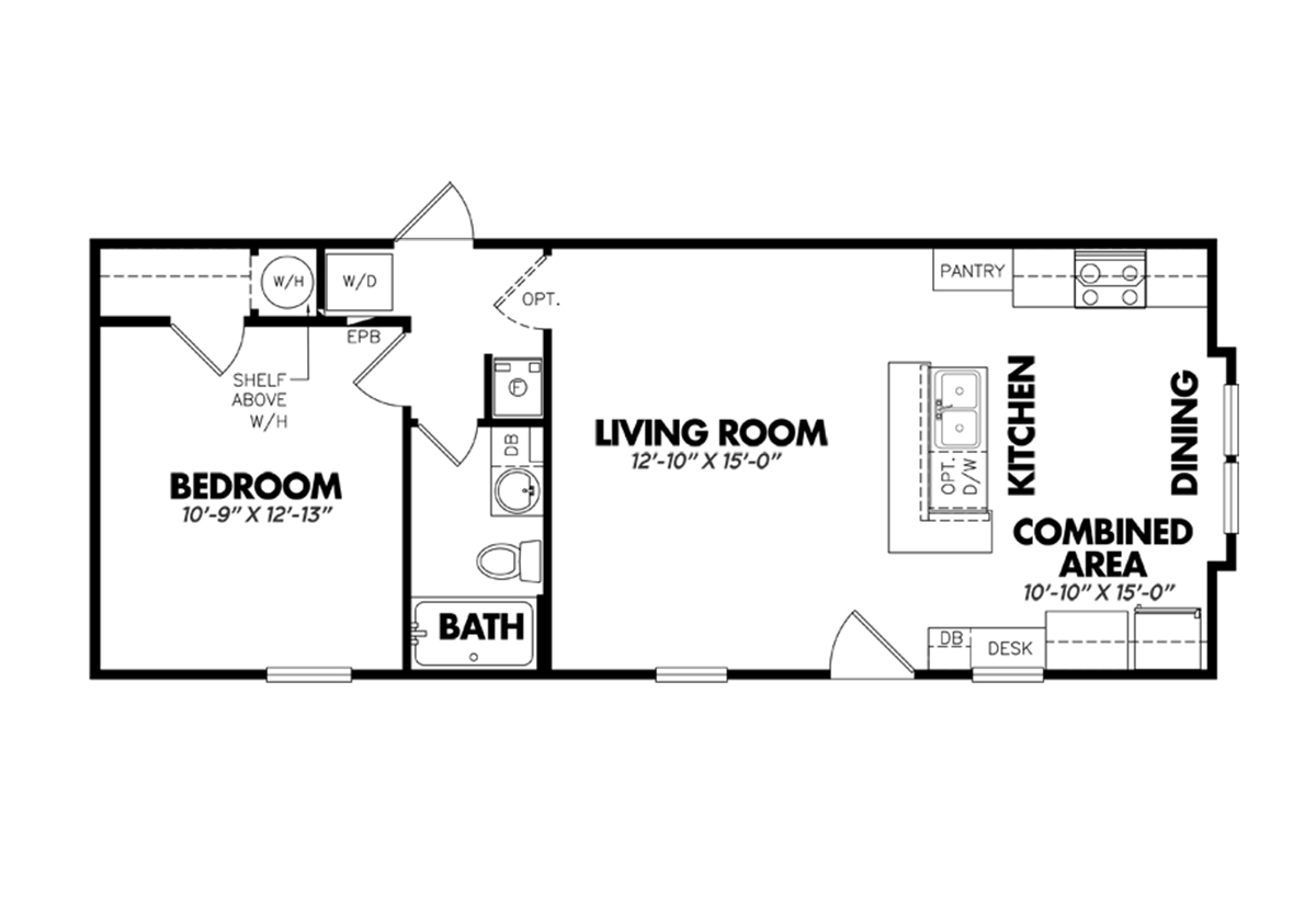 Classic 1644 11fkb by legacy housing for Classic homes floor plans