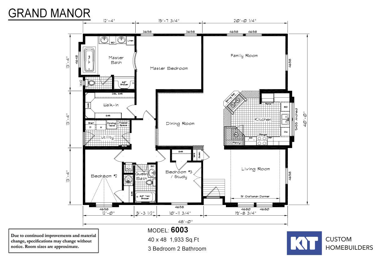 Gregg 39 s homes in kalispell mt manufactured home dealer for Grand homes floor plans