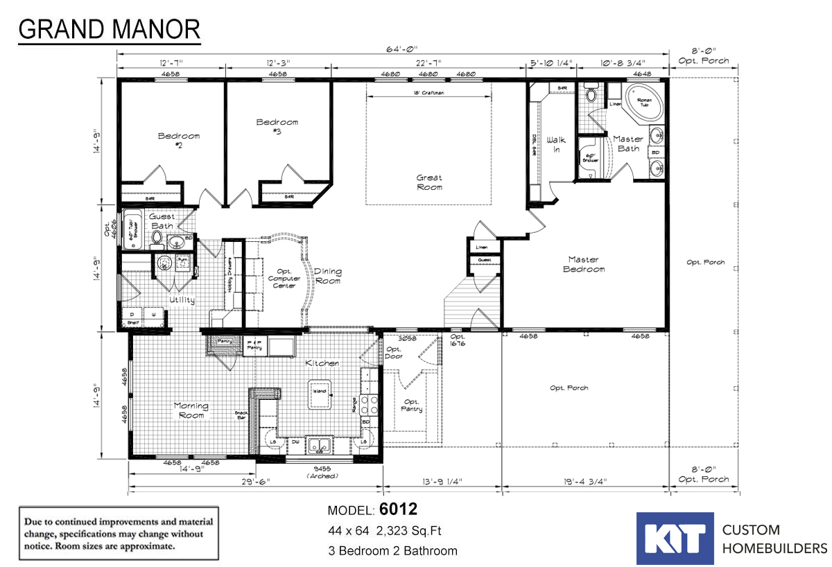 Grand Manor 6012 Layout