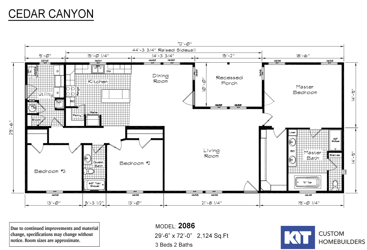 Cedar Canyon 2086 Privacy Porch Layout