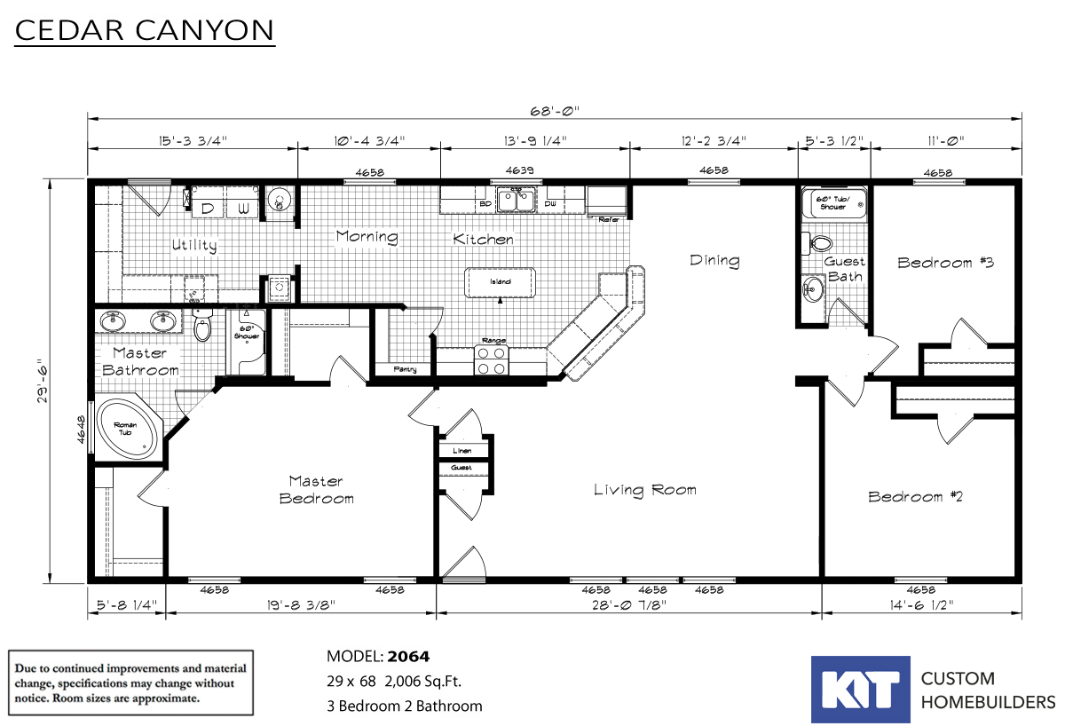 Cedar Canyon 2064 Layout