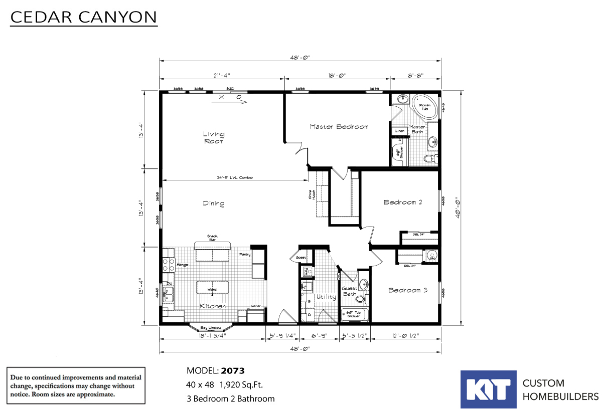 Cedar Canyon / 2073 - Layout