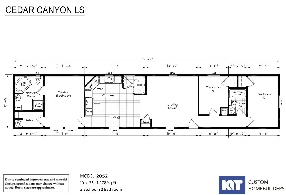 Cedar Canyon LS 2052 Layout