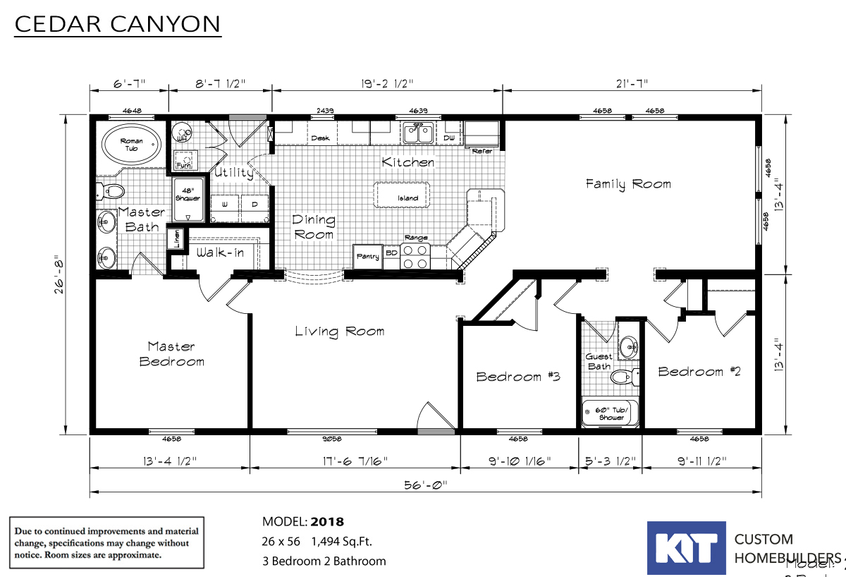 Cedar Canyon 2018 Layout