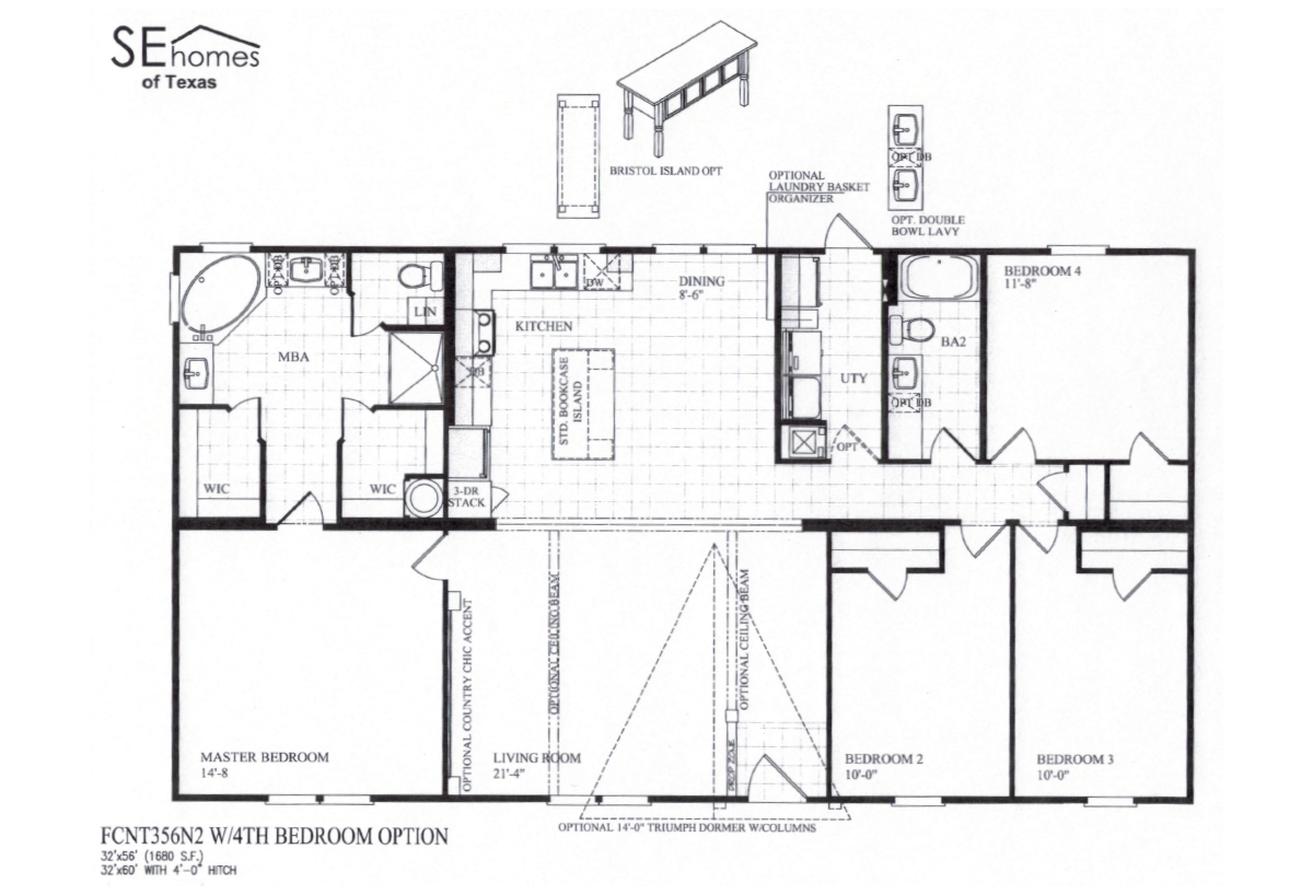 Fossil creek the bradley xl by southern energy homes for Southern energy homes floor plans