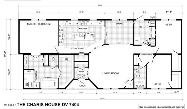 Deer Valley Series / Charis House DV-7404 - Layout