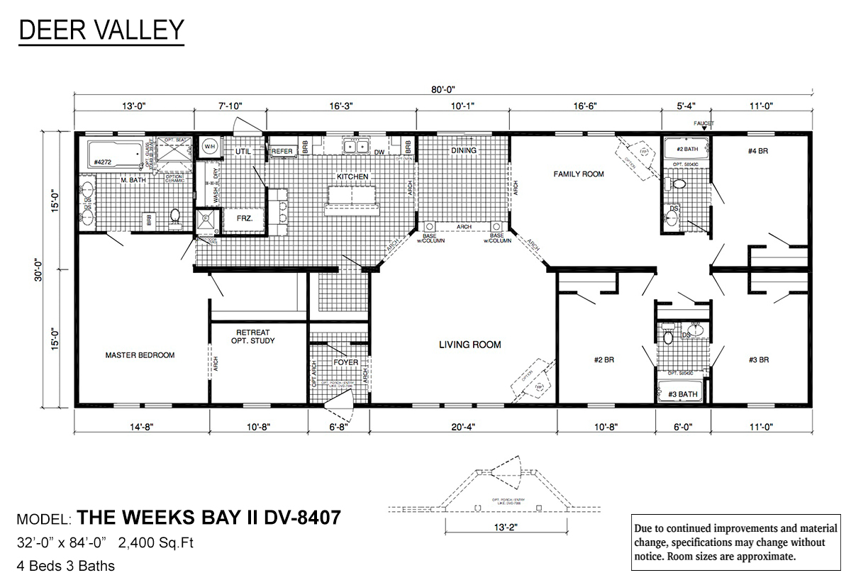 Deer Valley Series Weeks Bay II DV-8407 Layout