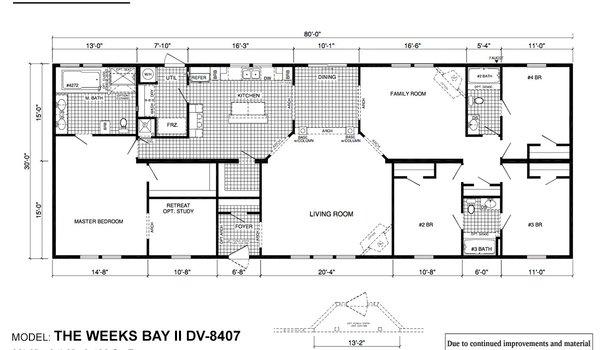 Deer Valley Series / Weeks Bay II DV-8407 - Layout