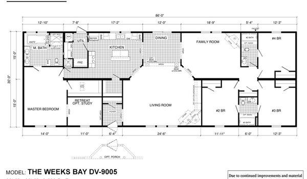 Deer Valley Series / Weeks Bay DV-9005 - Layout
