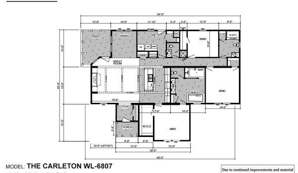 Woodland Series / The Carleton WLT-6807 - Layout