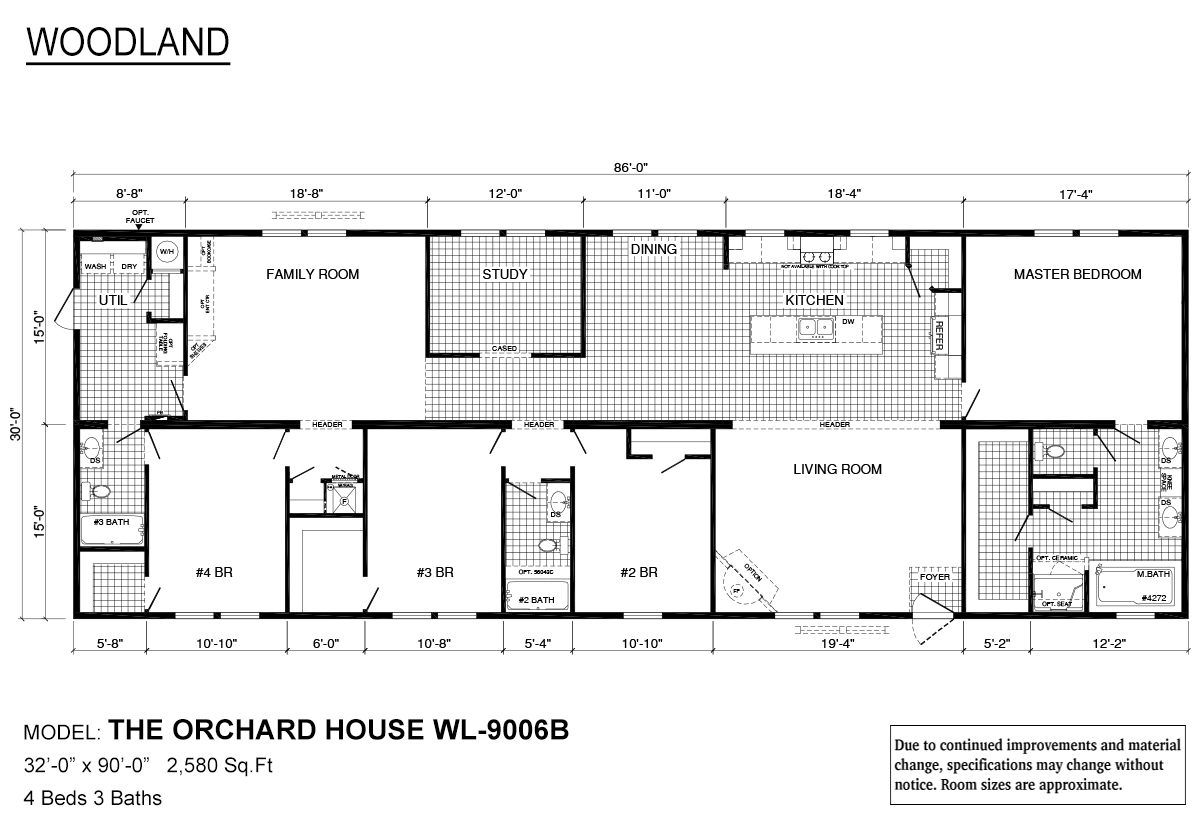 Woodland Series / Orchard House WL-9006B - Layout