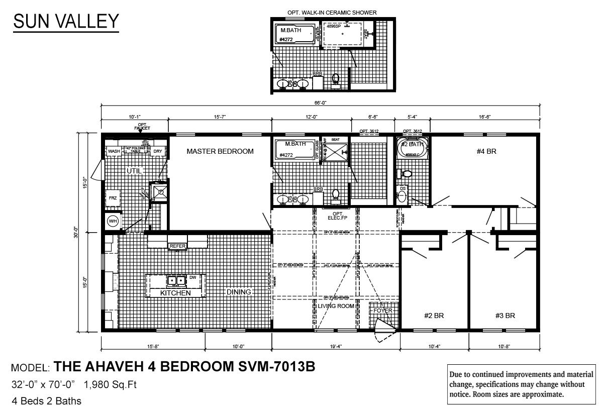 Sun Valley Series Ahaveh 4 Bedroom SVM-7013B