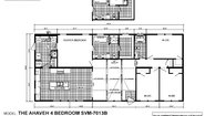 Sun Valley Series Ahaveh 4 Bedroom SVM-7013B Layout