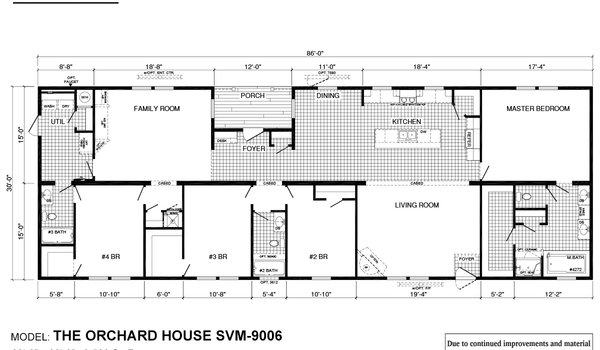 Sun Valley Series / Orchard House SVM-9006 - Layout