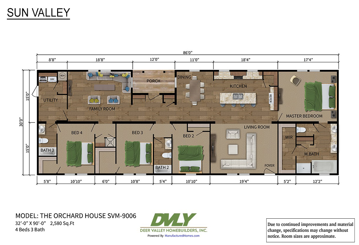 Sun Valley Series - Orchard House SVM-9006