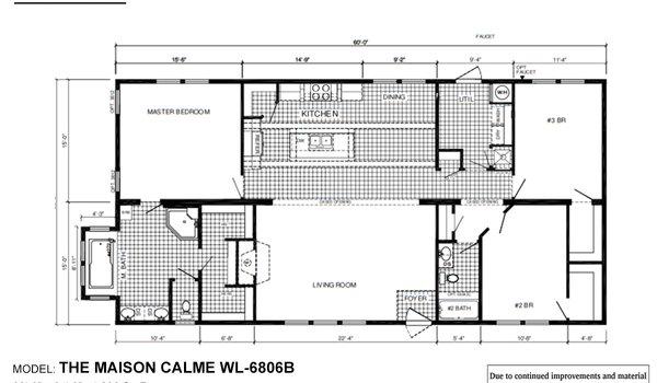 Woodland Series / Maison Calme WL-6806B - Layout