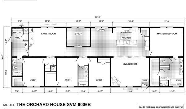 Sun Valley Series / Orchard House SVM-9006B - Layout