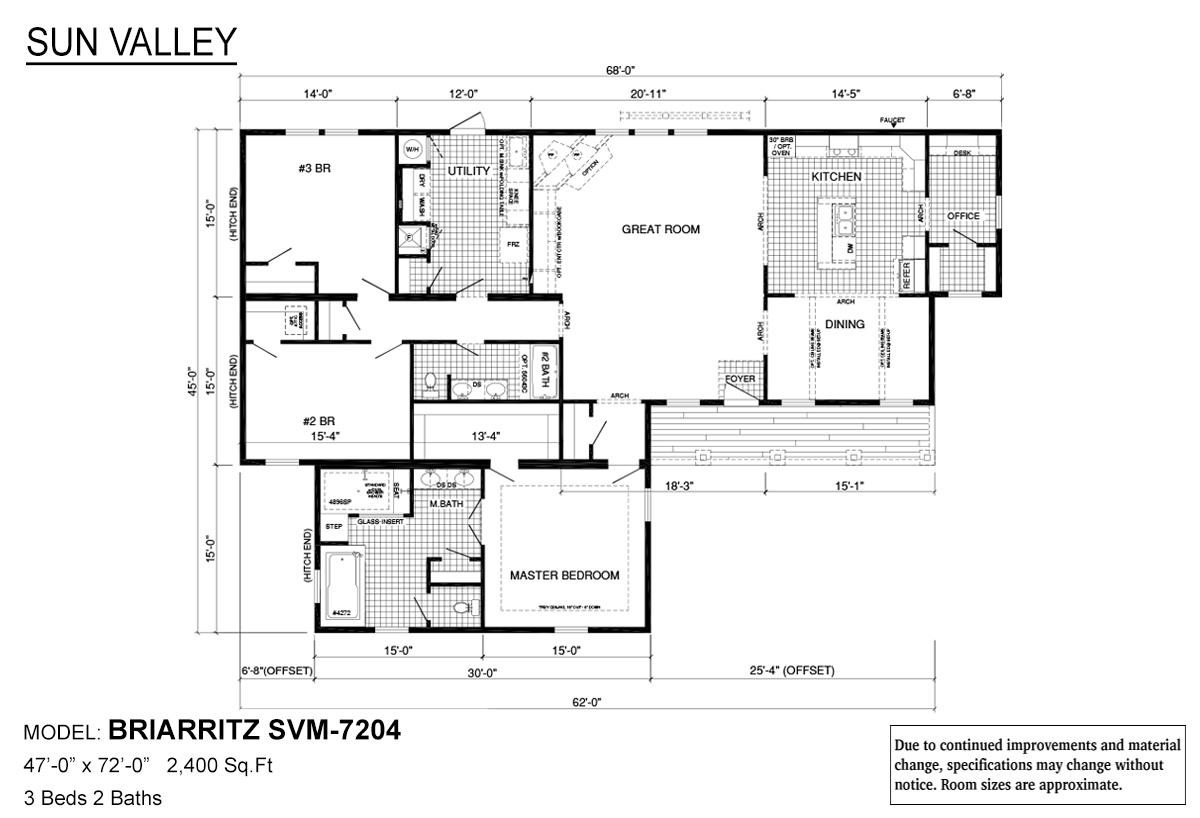 Sun Valley Series / Briarritz SVM-7204 - Layout