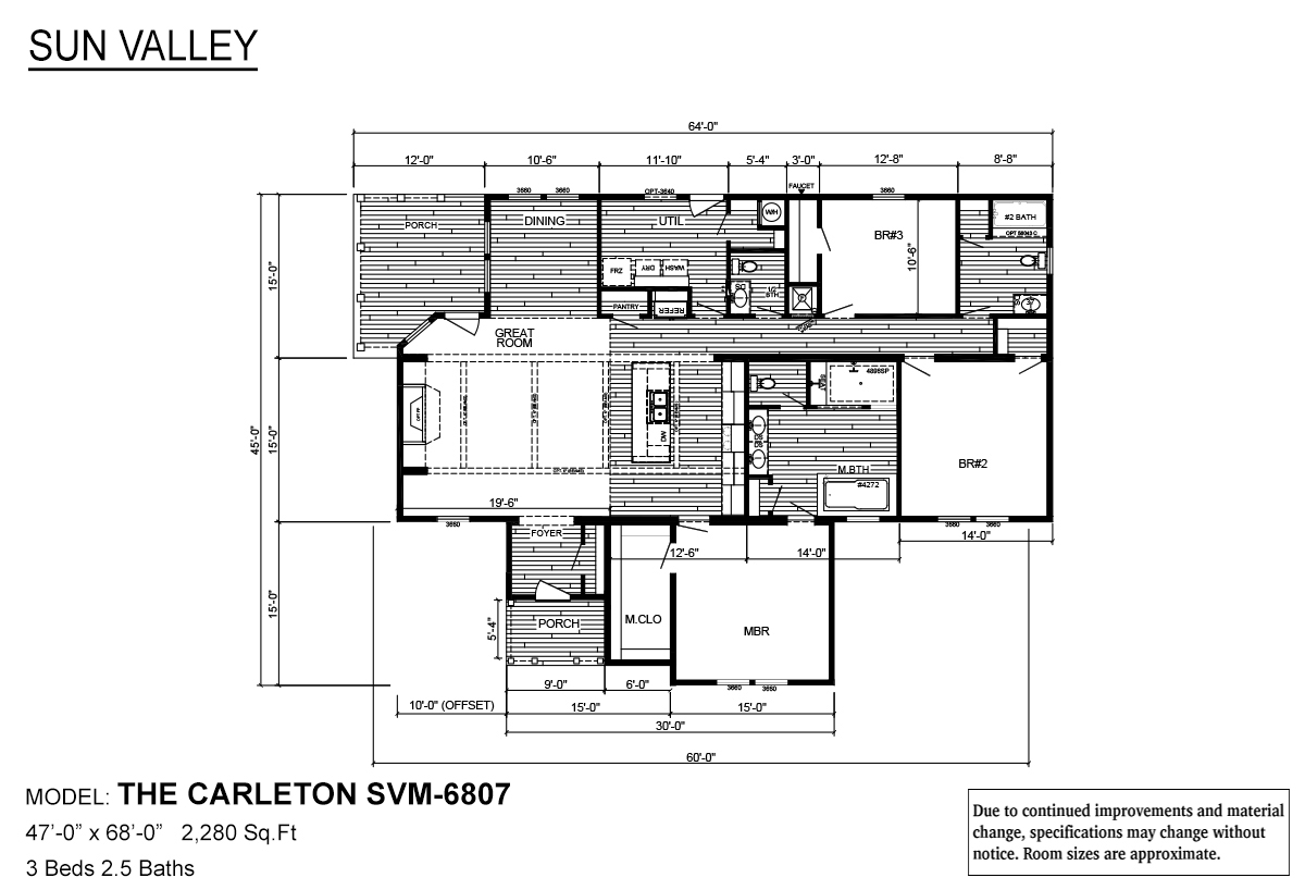 Sun Valley Series The Carleton SVM-6807