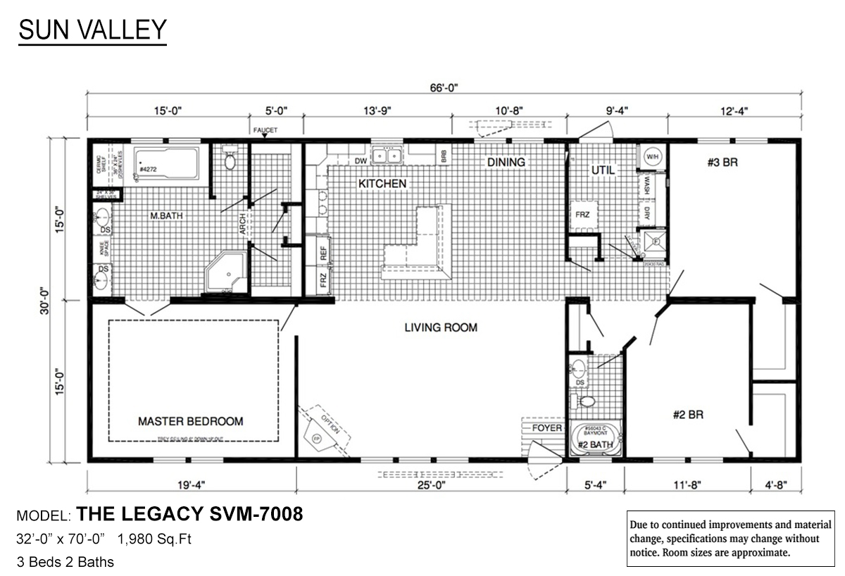 Sun Valley Series The Legacy SVM-7008 Layout