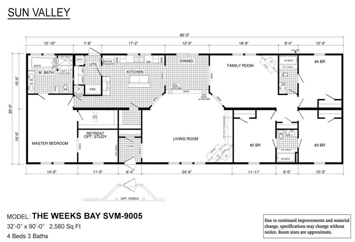 Sun Valley Series Weeks Bay SVM-9005 Layout