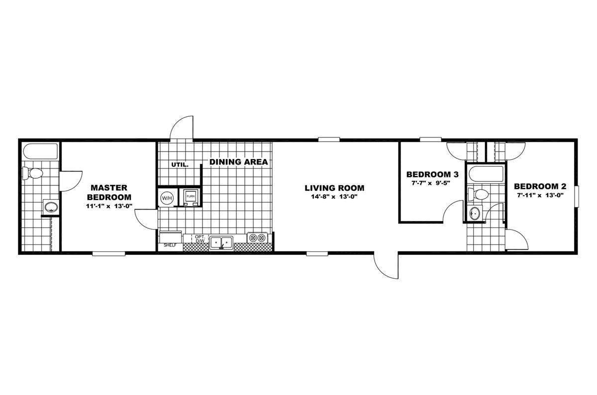 1 Beds 1 Baths 440 Sq Ft Plan 924 7: Texas Built Mobile Homes