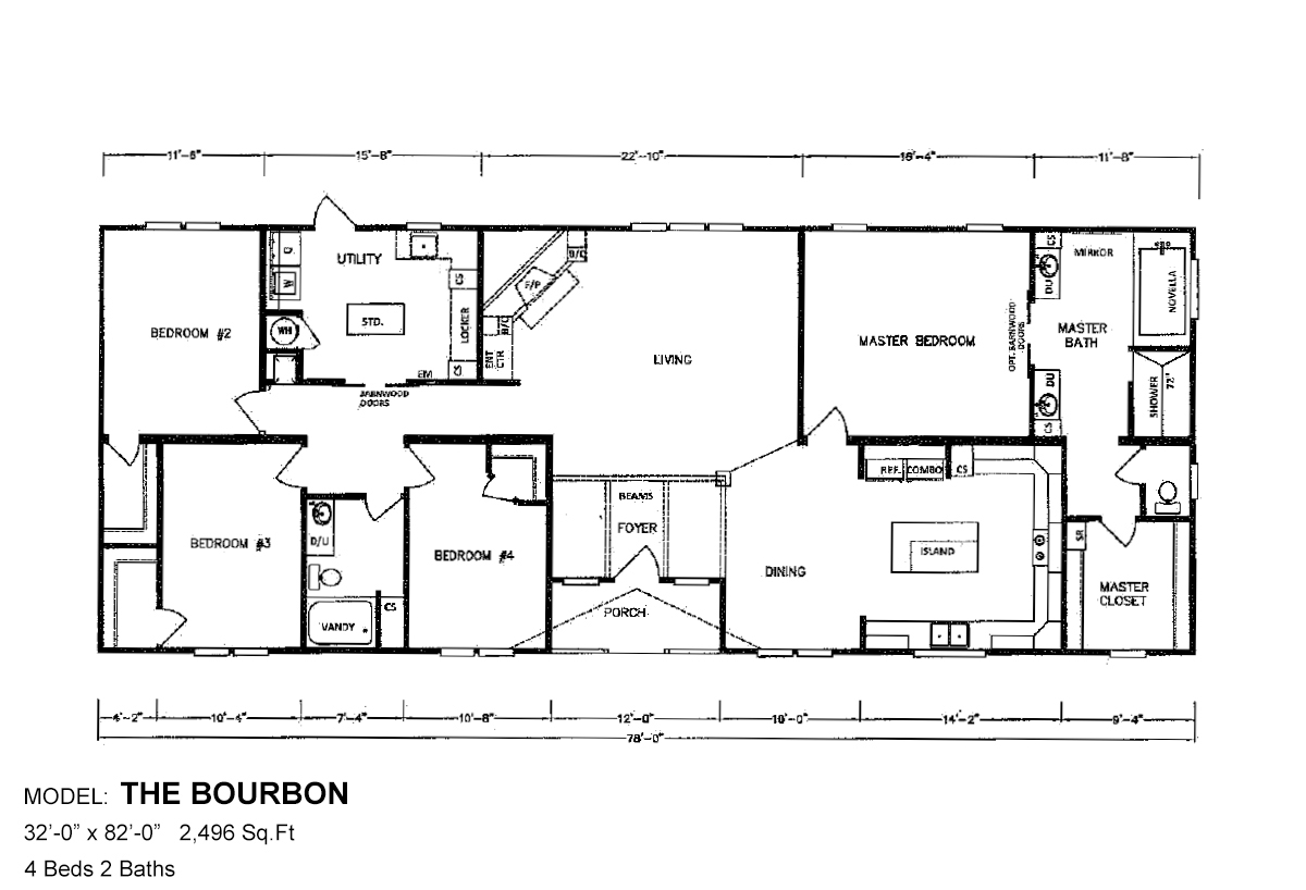 Bolton Homes DW The Bourbon Layout
