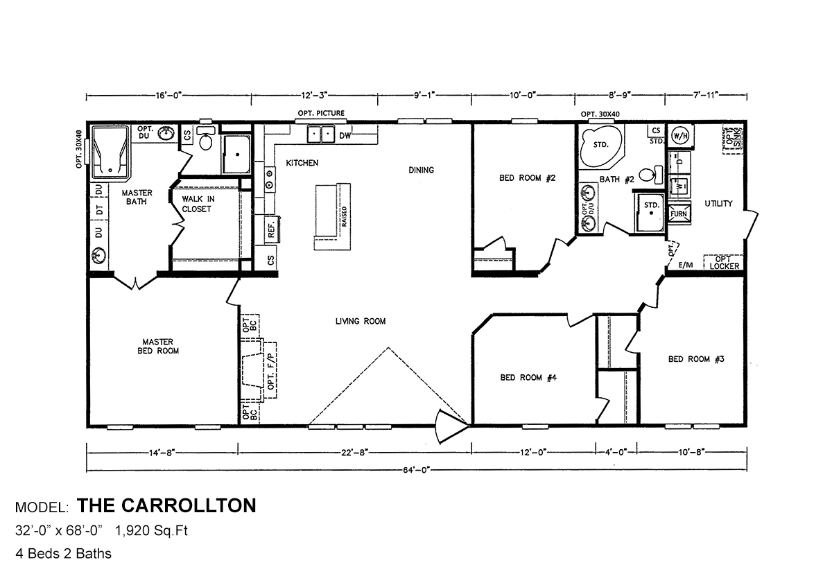 Bolton Homes DW The Carrollton Layout