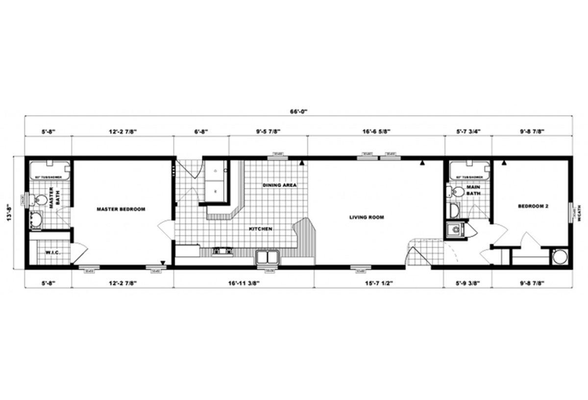 Single-Section Homes G-618 Layout