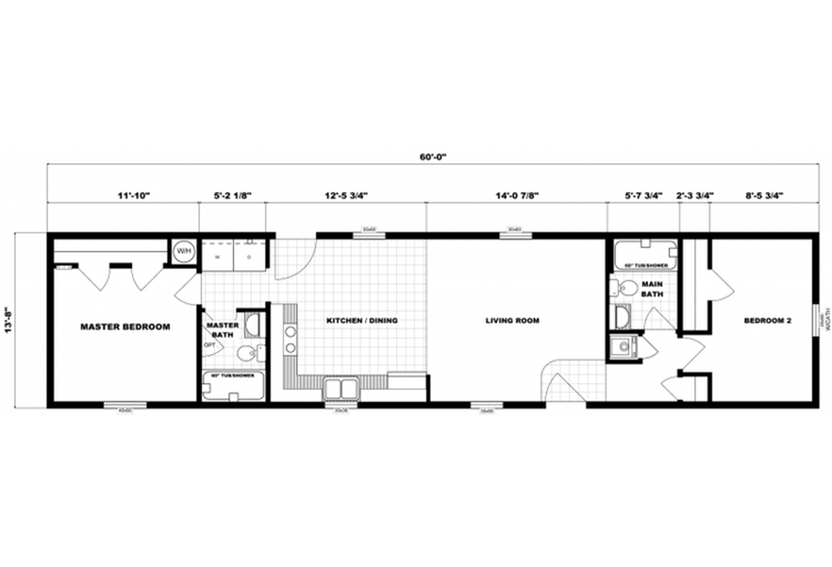 Single-Section Homes G-621 Layout