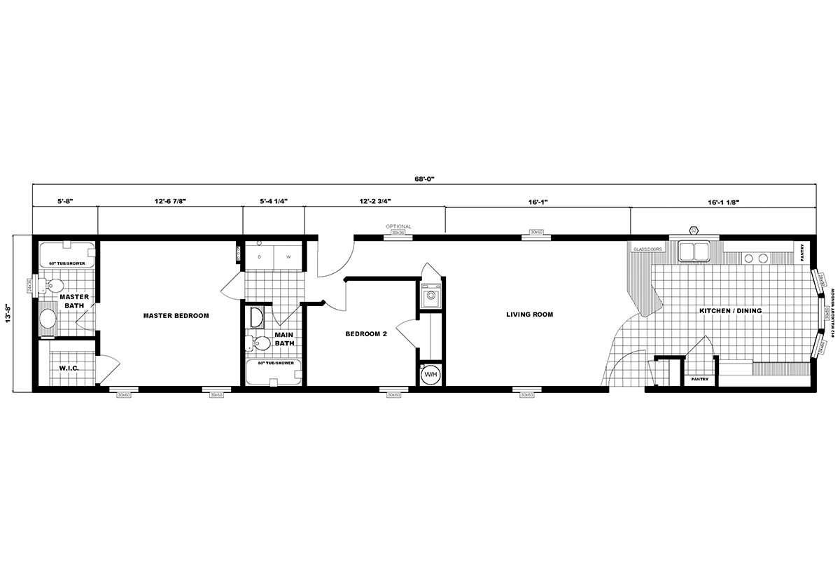 Single-Section Homes G-613 Layout