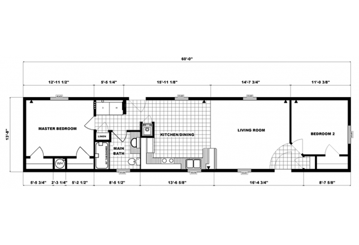 Single-Section Homes GH-491 Layout