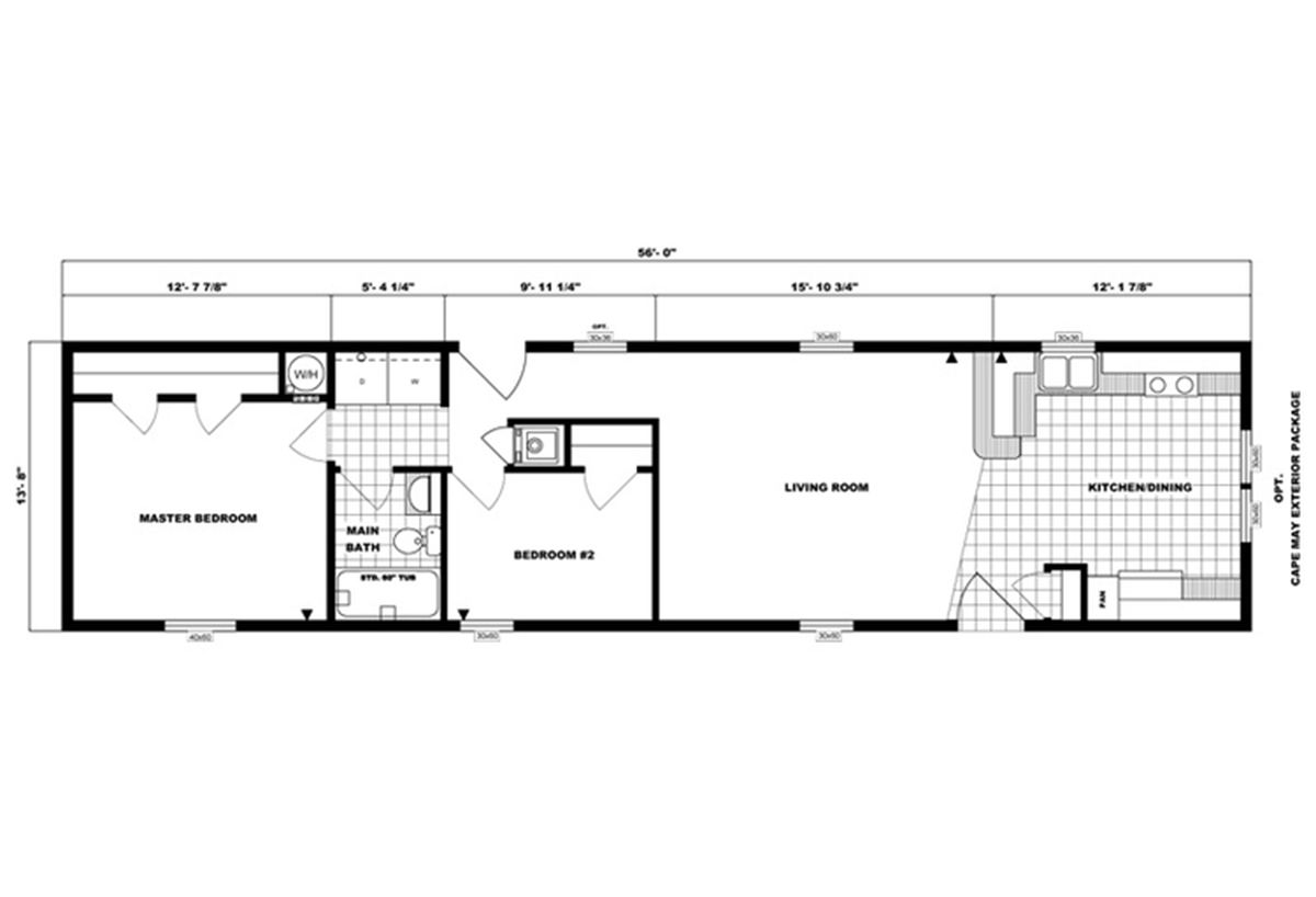 Single-Section Homes G-489 Layout