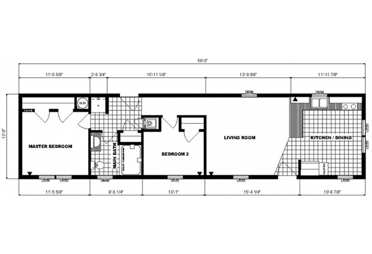 Single-Section Homes G-585 Layout