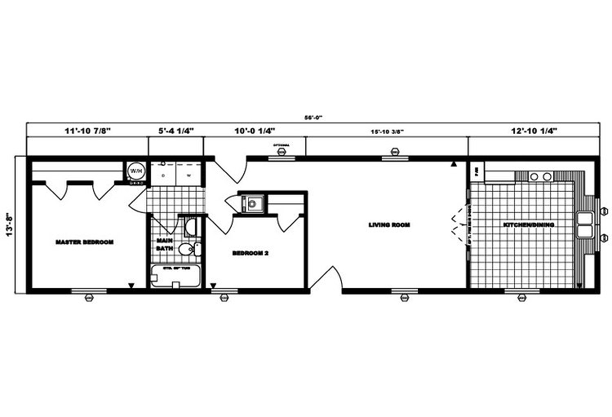 Single-Section Homes G-486 Layout
